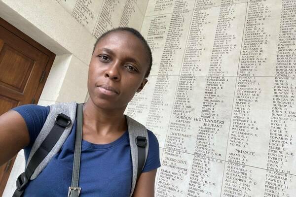 Sarah Nanjala at Menin Gate